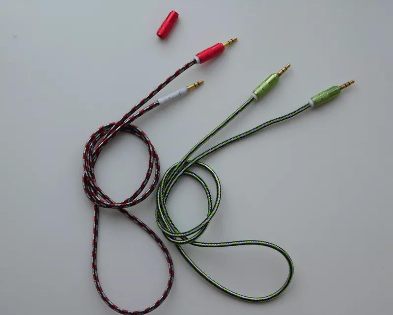 AUX кабель в тканевой полетке