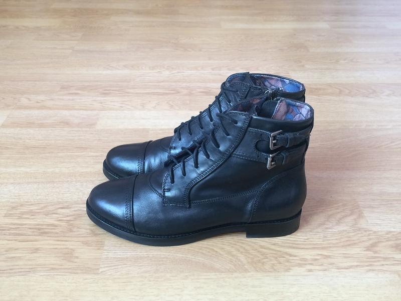 Кожаные ботинки geox италия 37 размера