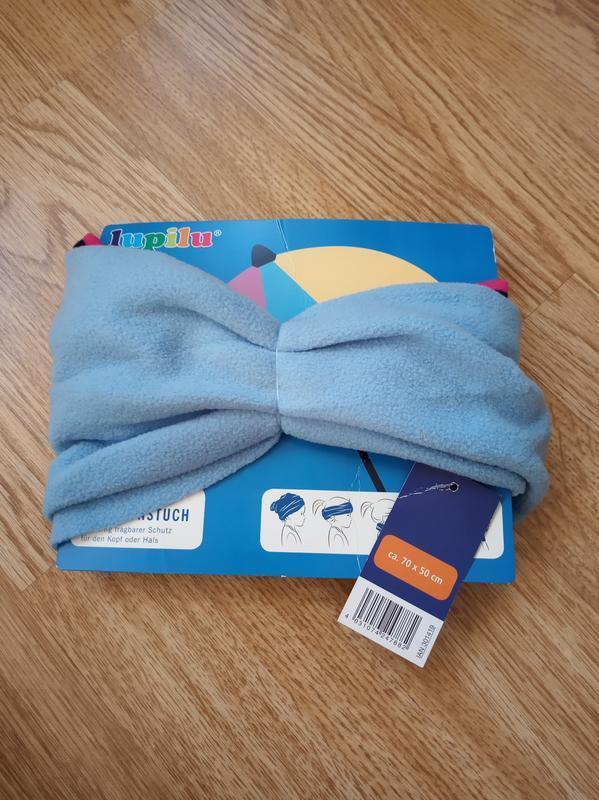 Двусторонняя шапка снуд шарф повязка lupilu