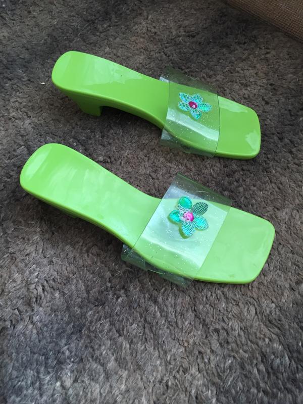 Шлёпанцы прозрачные на каблуке, англия
