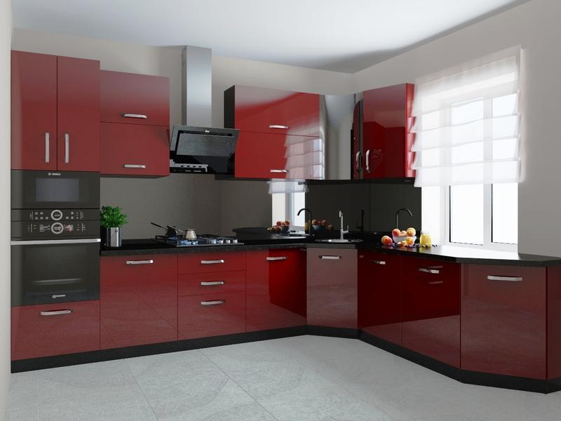Визуализация кухни, мебели
