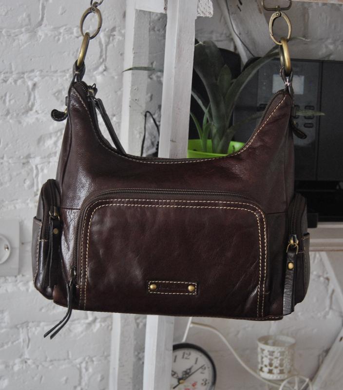 Кожаная сумка кроссбоди jane shilton / шкіряна сумка
