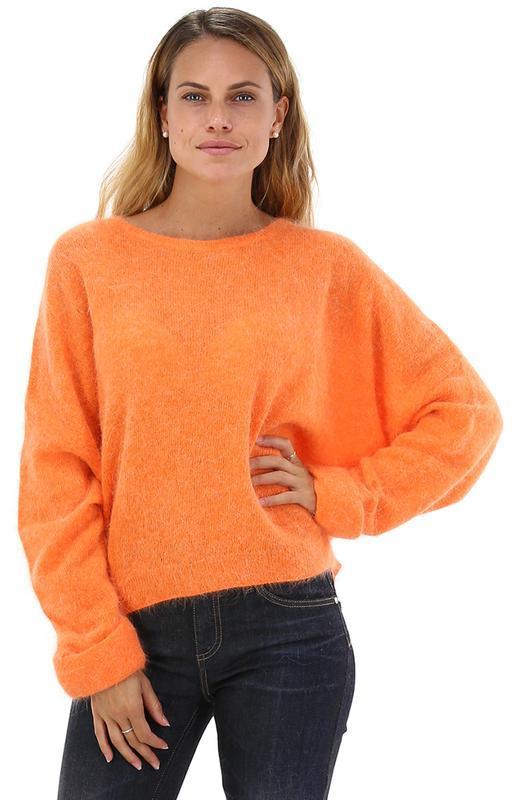 Американский винтажный кофта/топ/джемпер  в апельсиновом цвете