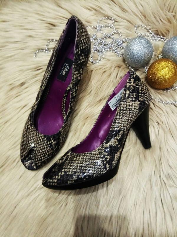 Туфли принт питона