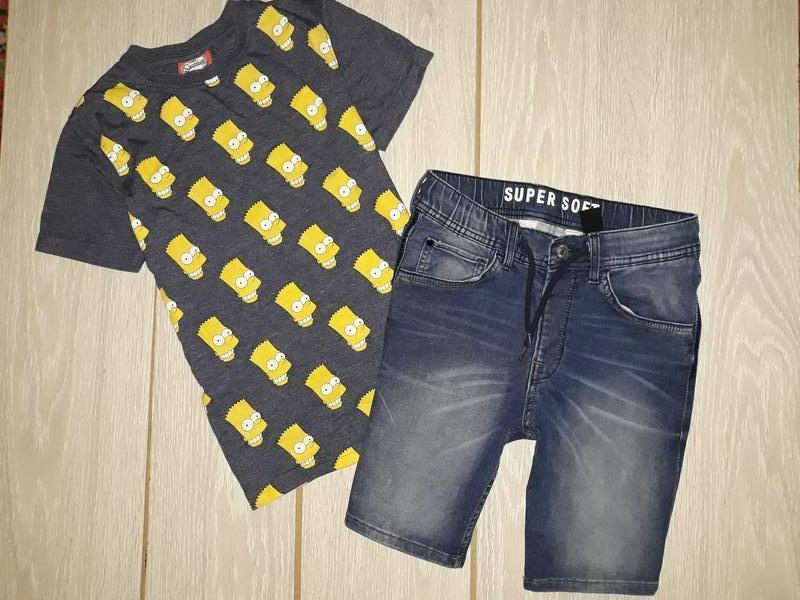 Мягкие, джинсовые шорты h&m на 10-11 лет