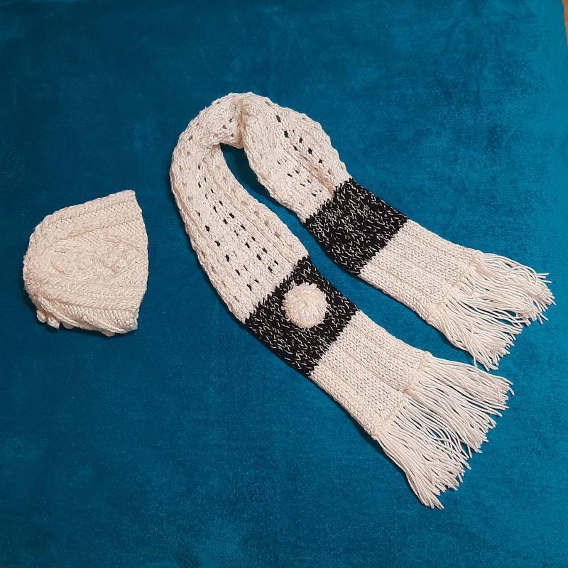 Комплект шапка и шарф, ручная работа