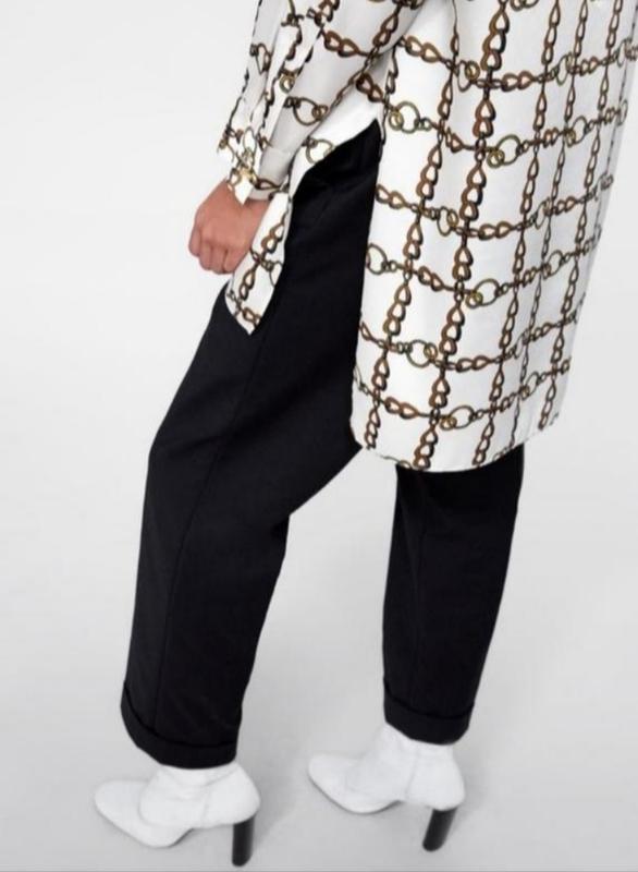 Удлинённая рубашка блузка блуза оверсайз свободного кроя от zara