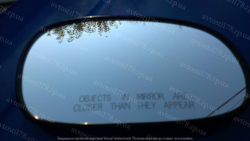Стекло зеркала левое с подогревом (большое) Ланос,Сенс Польша.