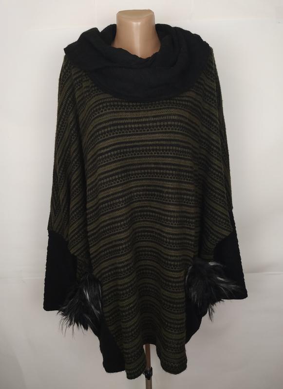Кофта свитер туника свободная модная итальянская в орнамент во...
