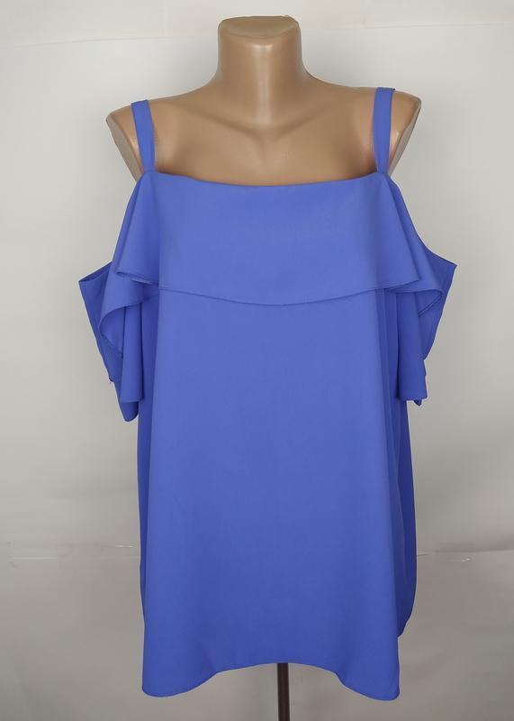 Блуза стильная с открытыми плечами большого размера george uk ...