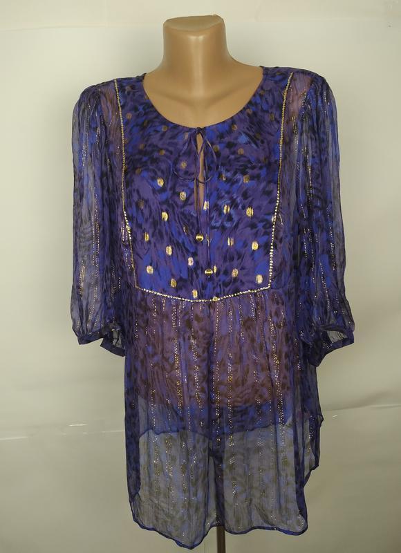 Блуза легкая красивая шелковая monsoon uk 16/44/xl