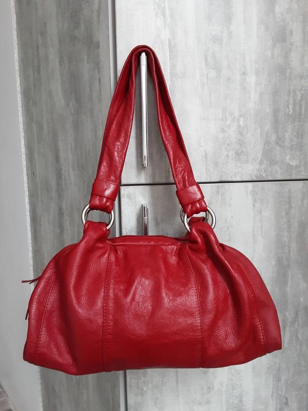 Вместительная кожаная сумка oriano