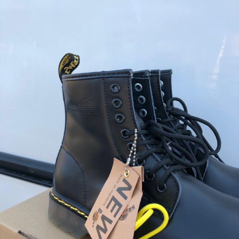 Шикарные женские зимние ботинки dr. martens 1460 black  {мех} - Фото 2