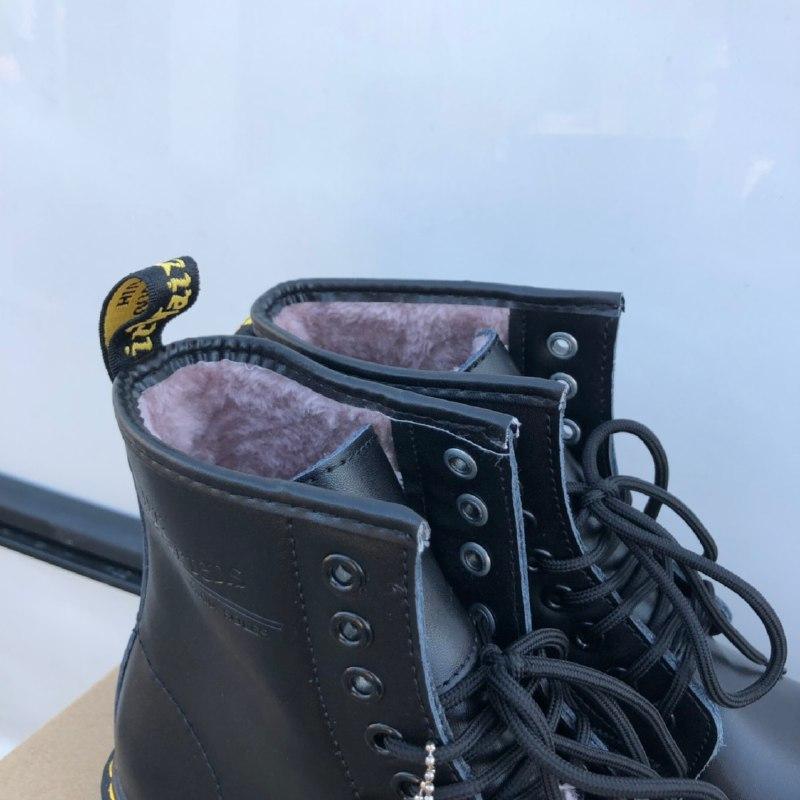 Шикарные женские зимние ботинки dr. martens 1460 black  {мех} - Фото 3
