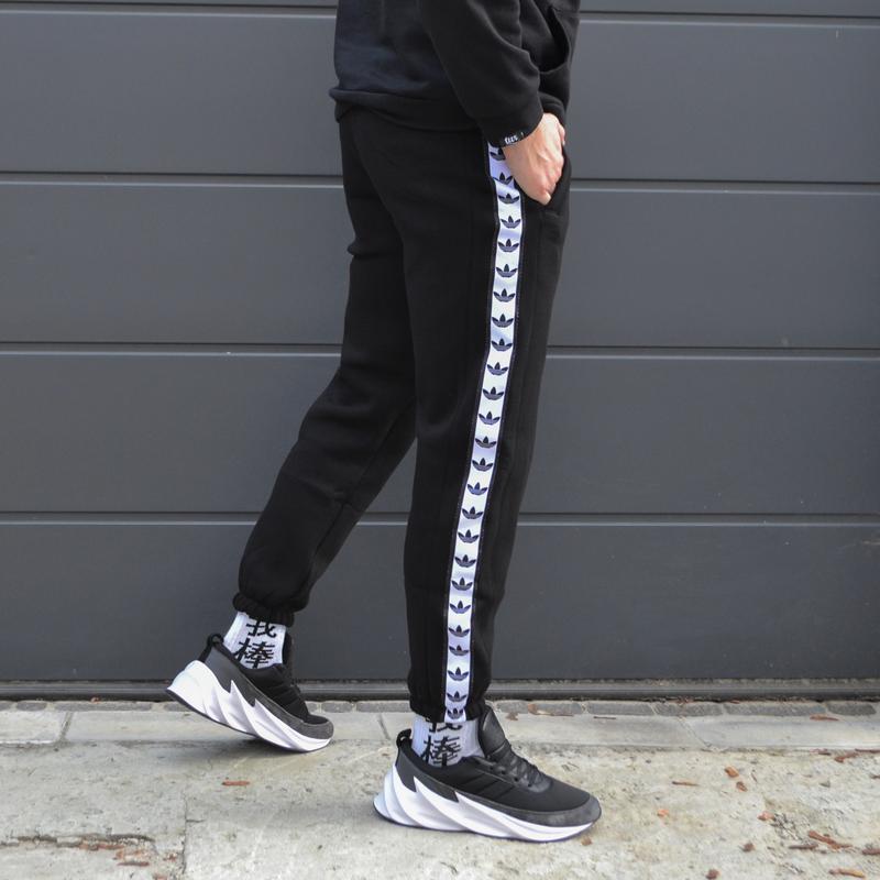 Спортивные штаны мужские черные бренд Адидас (Adidas)