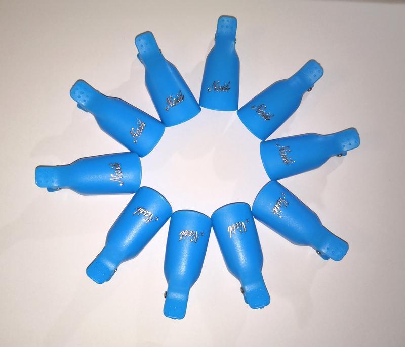 10 шт. зажимы клипсы прищепки для снятия гель лака с ногтей рук