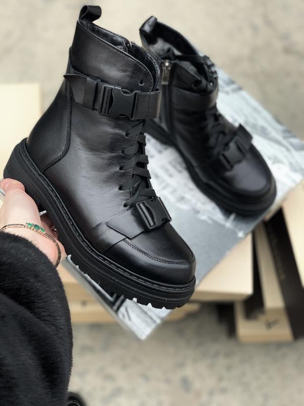 Хит 2020🖤♥️ женские кожаные зимние ботинки