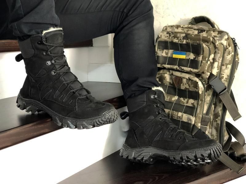 Шикарные мужские зимние берцы на меху (ботинки/ сапоги)