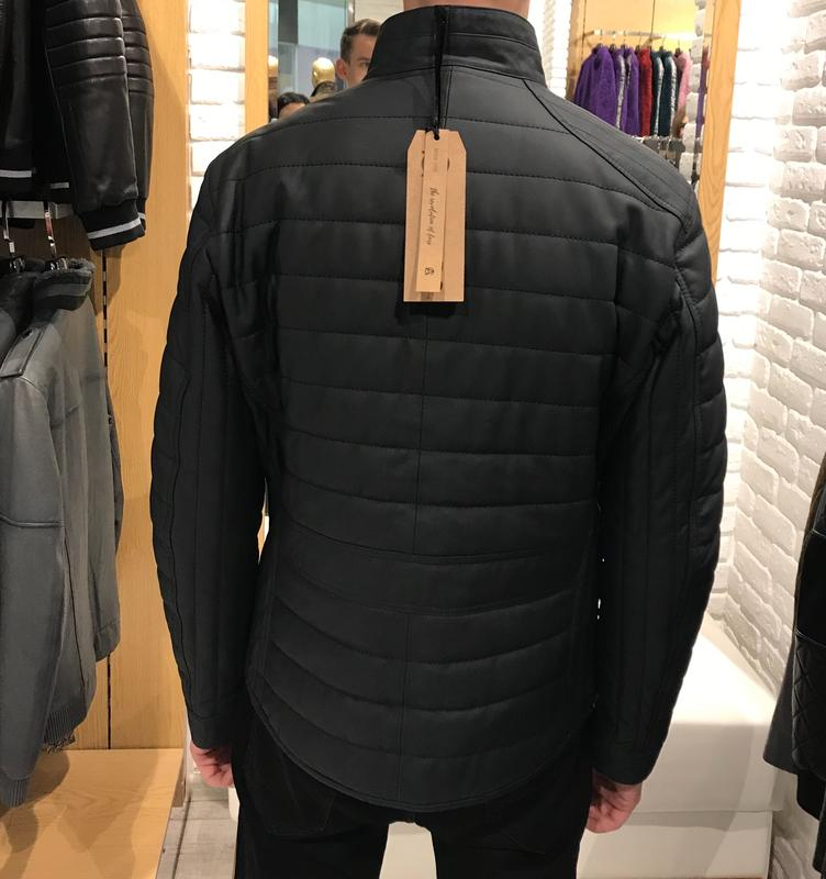 мужская кожаная курточка на синтепоне