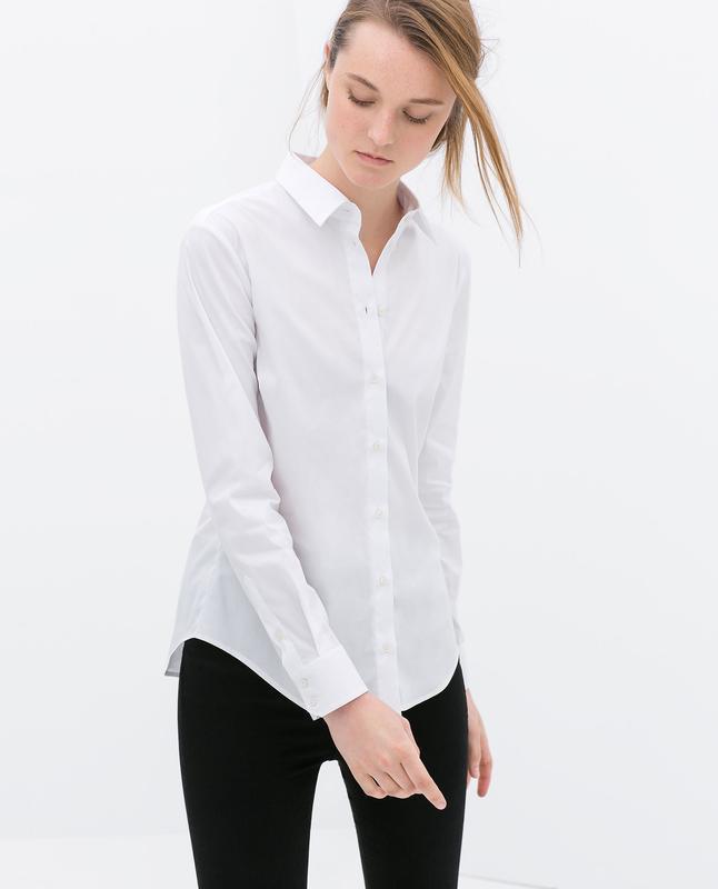 Базовая хлопковая рубашка zara