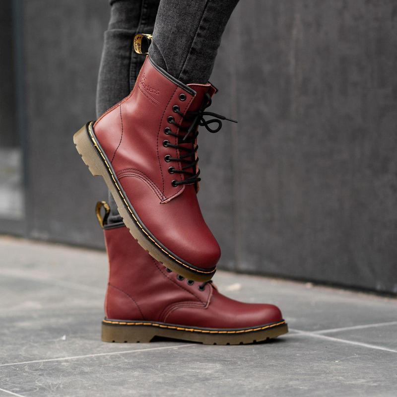 Шикарные мужские зимние ботинки dr. martens 1460 bordo fur 😍 (...