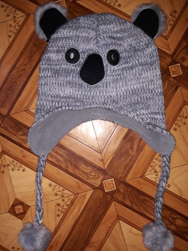 Шапка-коала на подростка, теплая