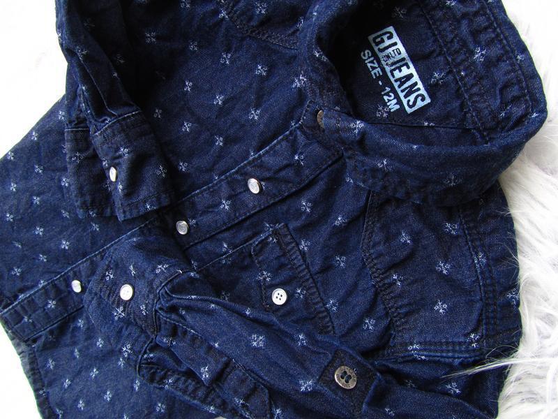 Качественная и стильная джинсовая рубашка gj jeans - Фото 2