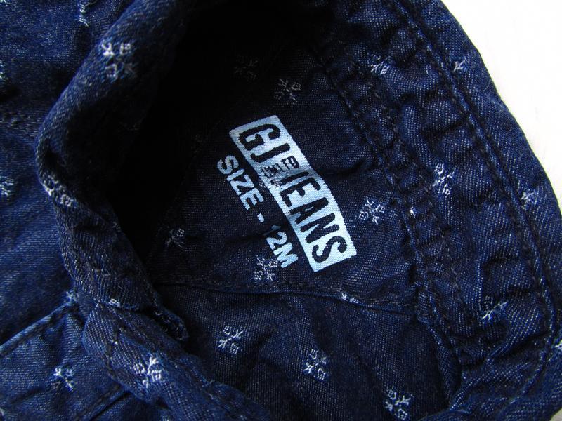 Качественная и стильная джинсовая рубашка gj jeans - Фото 3