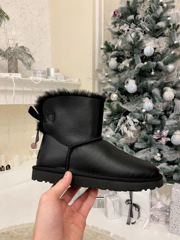 Ugg bailey bow 2! женские кожаные зимние угги/ сапоги/ ботинки...