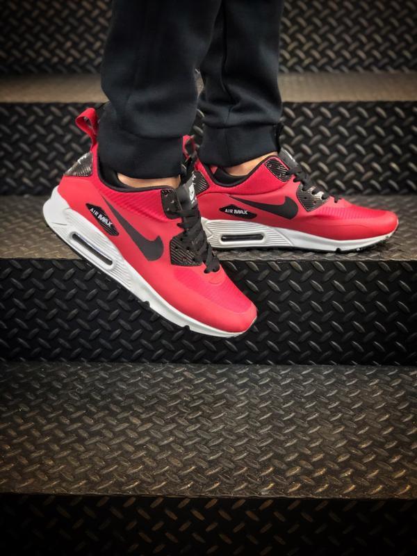 Nike air max 90 mid winter red мужские демисезонные кроссовки ...