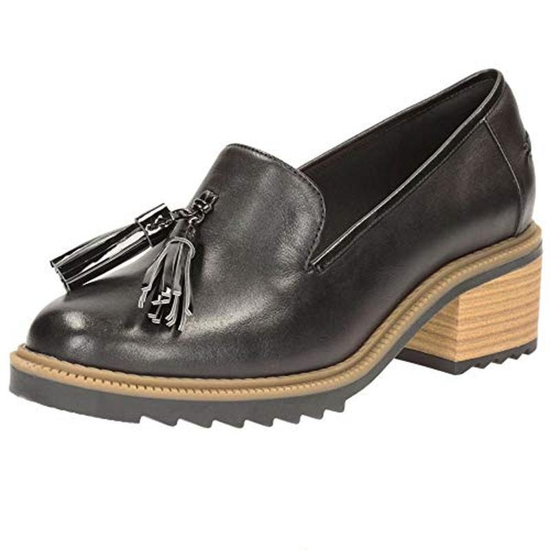 Кожаные туфли лоферы clarks
