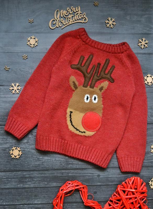 Офигенный новогодний свитер tu 1.5-2года