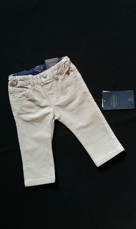 Микровельветовые штаны/брюки mayoral (испания) на 3-6 месяцев ...