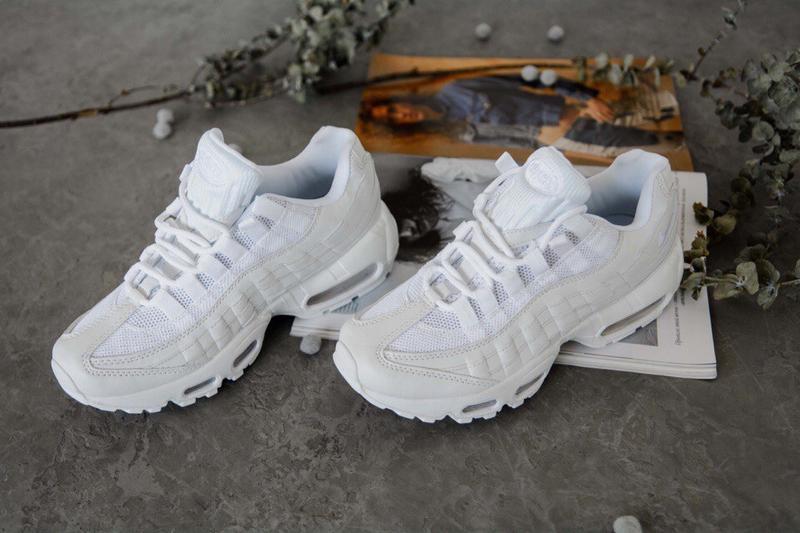 🌹nike air max 95 full white🌹женские белые демисезонные кроссов...