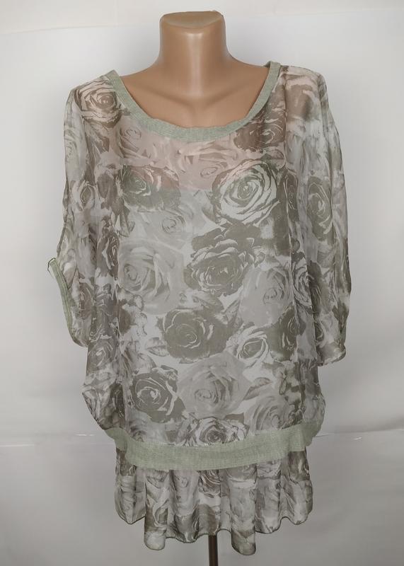 Блуза итальянская модная шифоновая uk 10-12/38-40/m