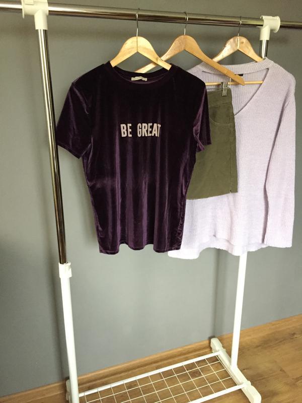 Топовая бархатная футболка zara