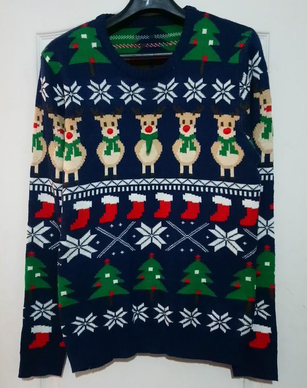 Новогодний свитер мужской