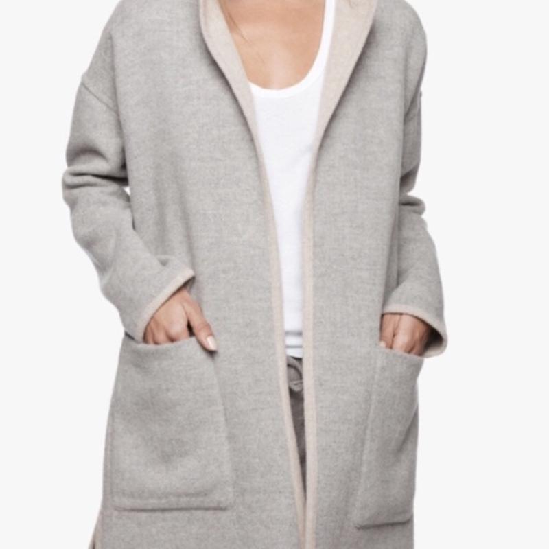 Двухстороннее пальто из шерсти альпаки james perse reversible ...