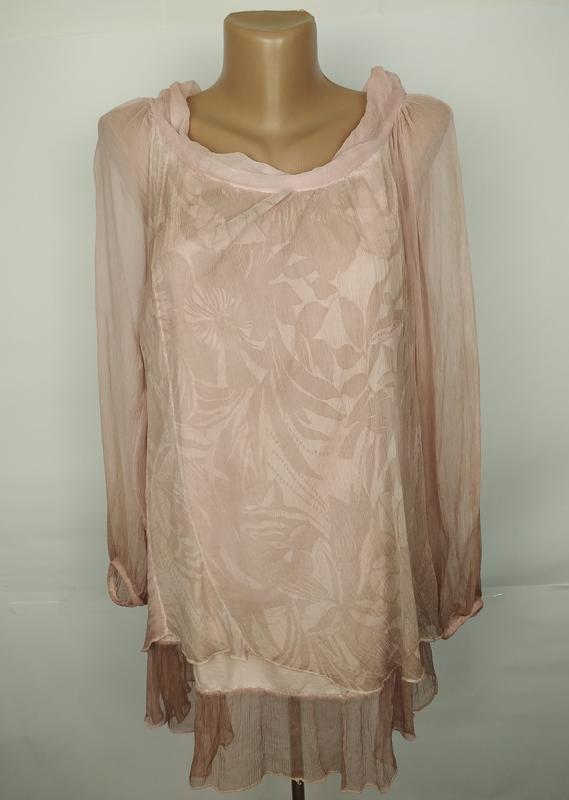 Блуза шелковая красивая итальянская uk 14/42/l