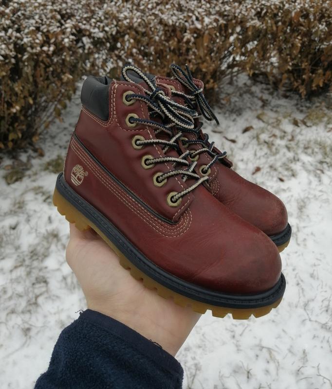 Детские демисезонные кожаные ботинки timberland classic