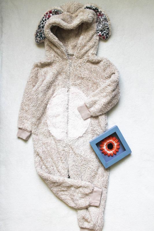 Пижама, кигуруми, домашний костюм с ушками 4-5 лет