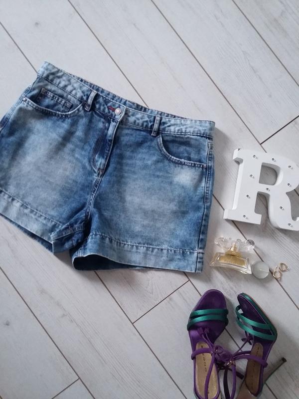Мега стильные высокие шорты  ,джинс варенка
