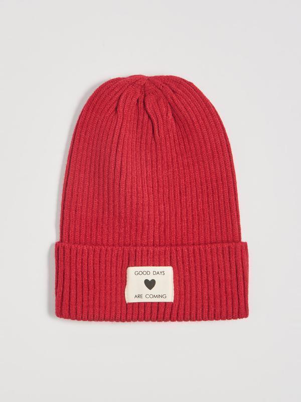 Новая бордовая темно-красная шапка польша good days are coming...