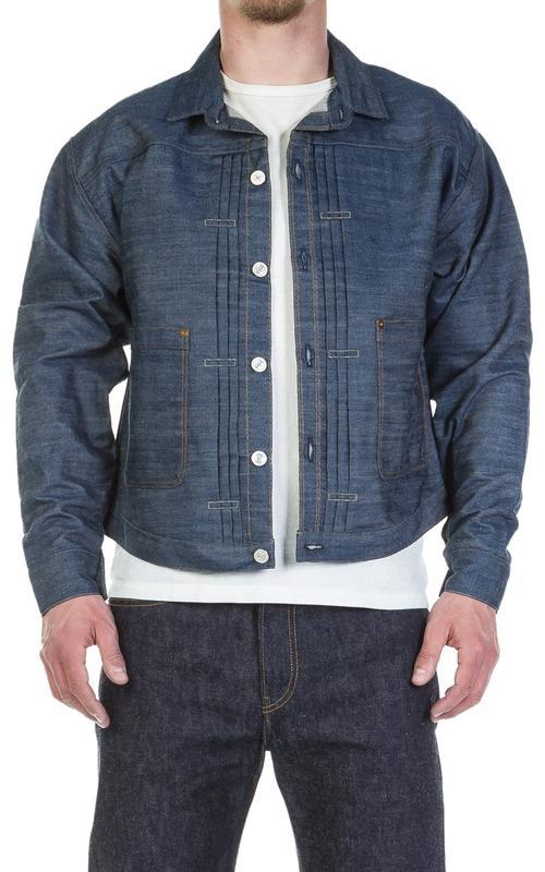 Джинсовая куртка levis (левис) lvc 1880's triple pleat blouse!...