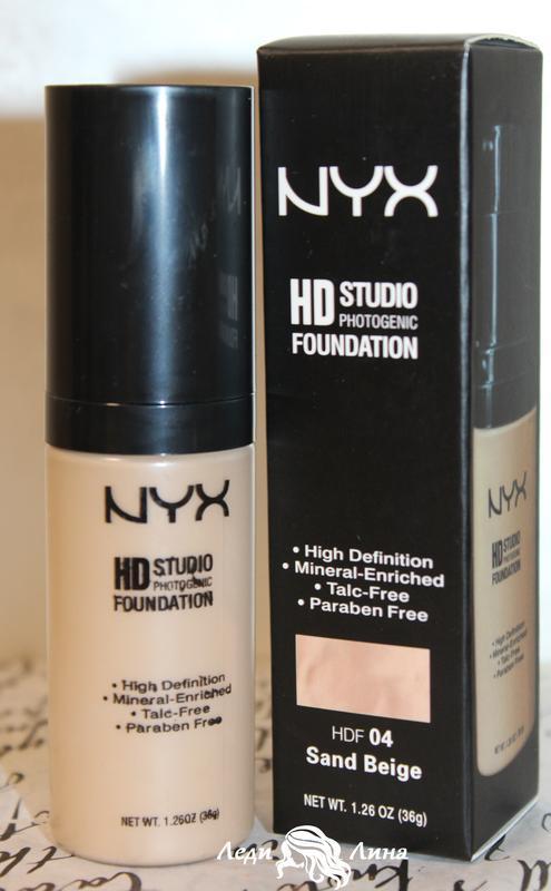 Тональная основа nyx hd studio photogenic foundation тон 04