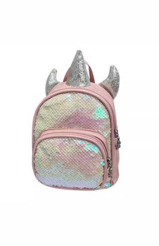 Рюкзачок пайетки блестки блестящий рюкзак единорог юникорн