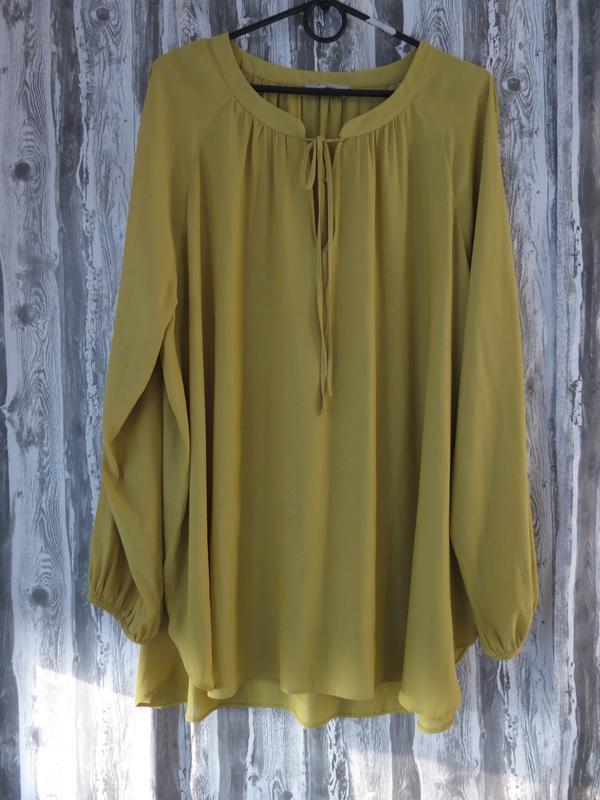 Шикарная блуза с длинным рукавом большой размер 22 размер