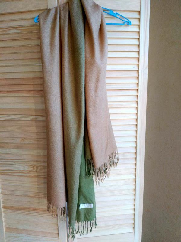 Кашемировый шарф палантин с шелком pashmina