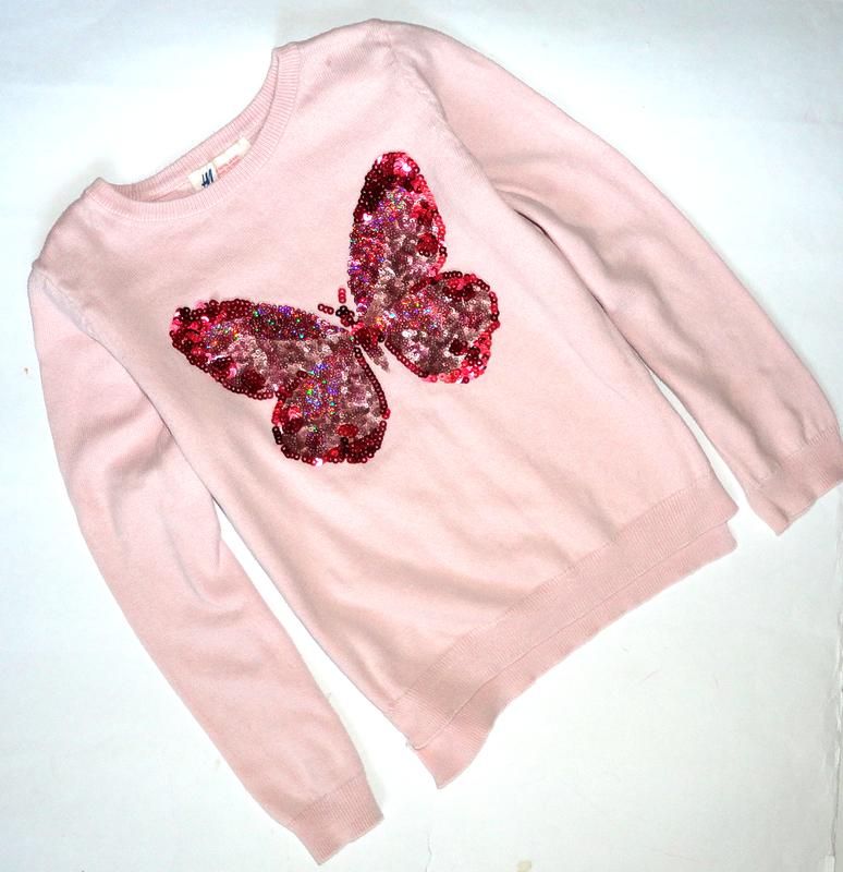 Розовая кофточка h&m 4-6 лет   (рук. 40, шир.31)