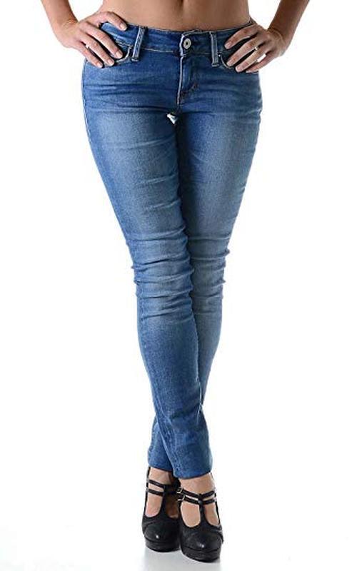 Синие голубые плотные джинсы скинни прямые высокий рост узкачи...